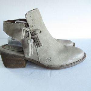 Born Ankle Booties Tassel Distressed Leather